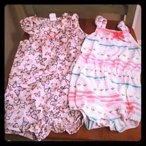 2 Cotton Rompers by H&M